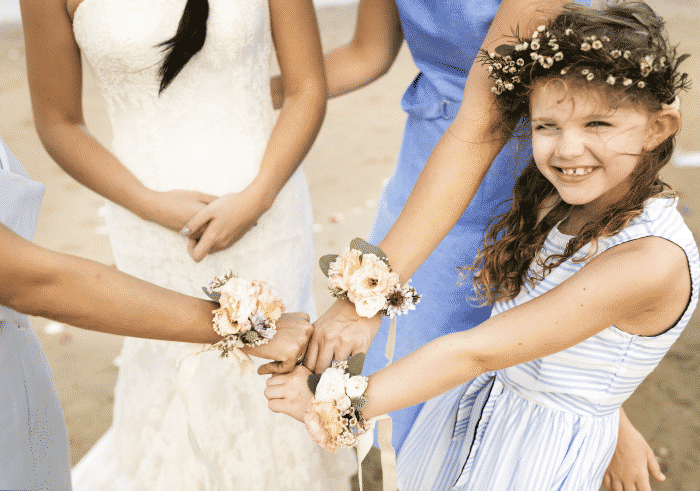 little-bridesmaid-beach-wedding
